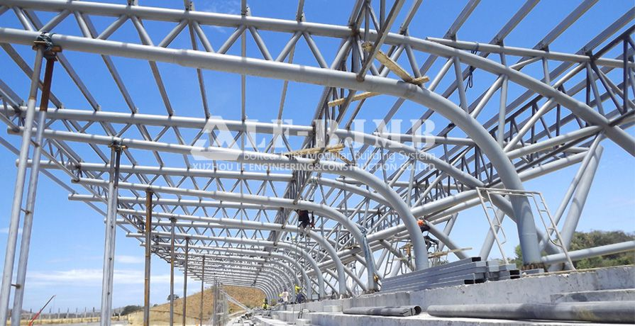 PHILIPINES OVAL BLEACHERS STEEL TRUSS PROJECT